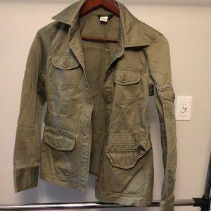 Jcrew olive green utility jacket